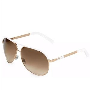 GUCCI Aviator GG1827S Gold Metal White Sunglasses